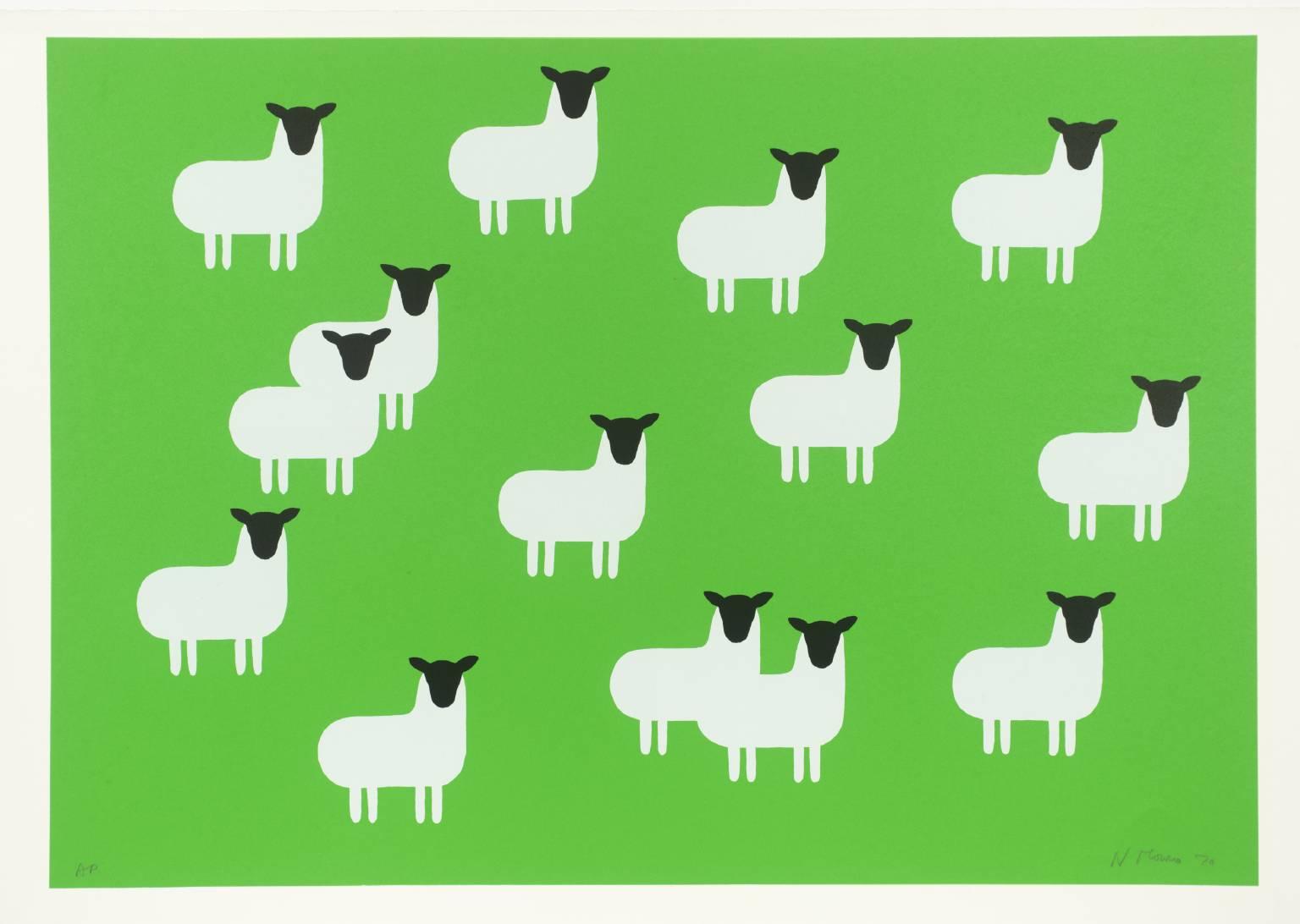 Sheep 1970 by Nicholas Monro born 1936